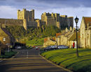 Bamburgh village & castle in the 80s