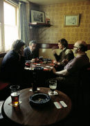 """Pub """"regulars"""" enjoying a Card game, Frome in the late 70's."""