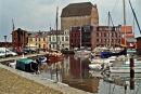 Stralsund canal harbour.