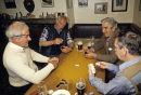 Domino game in a pub.