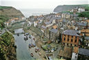 View of Staithes N. Yorkshire in the 80s.