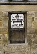 Georgian unpainted Letter Box.