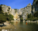 Pontd'Arc and the Ardeche River.