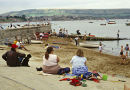 Beach scene at Weymouth in 80's