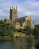 Worcester Cathedral & River Severn.