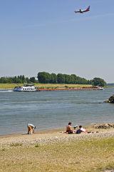 Rhine at Meerbusch, NRW, Germany.