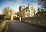 Hexham Abbey from Cowgarth