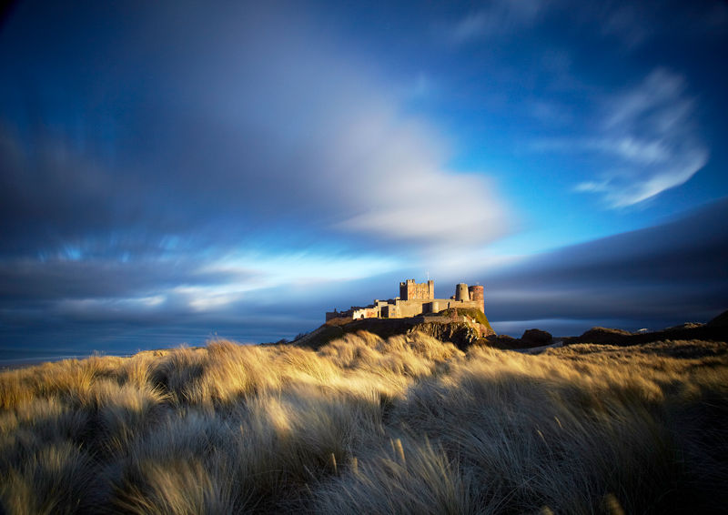 Enchanting Skies over Bamburgh