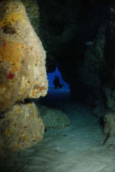 Swim through, Maria La Gorda, Cuba