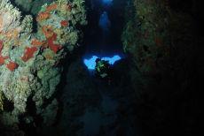 Swim-through from fore-reef, Maria La Gorda
