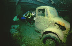 Truck inside the Thistlegorm