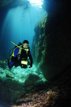 At the entrance to the Paleokastritsa Caves