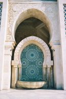 Fountain, Hassan II Mosque, Casablanca