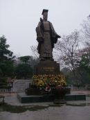 Statue of Confucius, Ly Thai To Park, Hanoi