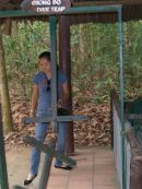Door Trap, Cu Chi Tunnels, outside Ho Chi Minh City