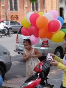 Vietnamese Child with Balloons, Ho Chi Minh City