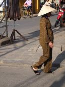 Vietnamese Lady Smoking a Cigar, Hoi An