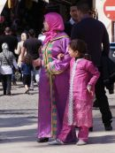 Moroccan Woman & Daughter