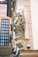 Statue on a Building, Old Town, Prague