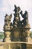 The Madonna St Domonic & Thomas, 1708, Charles Bridge,Prague