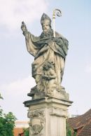 St Augustine, 1708, Charles Bridge, Prague