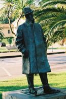 Bronze Statue of Giacomo Puccini at Lake Massaciuccoli, Tuscany