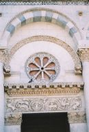 Detail on Church, Lucca, Tuscany