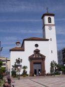 Church in main plazza of Fuegirola, Spain