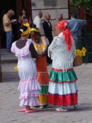 Traditional Cuban Ladies Dresses, Cathedral Square, Havana