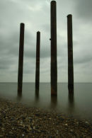 Long exposure of the West Pier, Hove