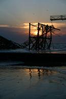 Sunset behind West Pier, Brighton