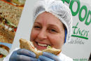 Portrait used in Scottish Enterprise Ayrshire Annual report on a sandwich company