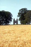 The Hundy Mundy, a folly at Mellerstain House in the borders, an eyecatcher made to look like a castle and complete the view