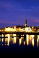 Ayr the county town of Ayrshire at nightime
