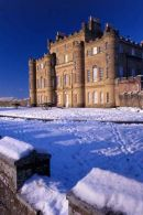 A winter scene at Culzean Castle Also used by the National Trust as a christmas card