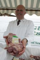 John Scott MSP who owns a farm in South Ayrshie at the local farmers market
