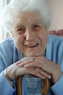 Senior citizen at day centre North Ayrshire  Photographed to show the positive side of council service