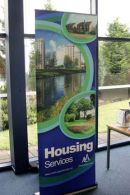 North Ayrshire Council Roller Banner for housing services
