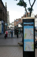Ayr Ways a set of directional information display stands