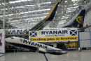 Inside new Ryanair hanger at official opening.