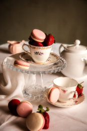 Macaron Marquee - Strawberries & Cream