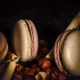 Macaron Marquee - Hazelnut & White Chocolate