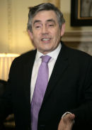 Gordon Brown at Downing Street