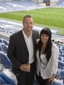Footballer Paul Jones and wife at Amex Stadium