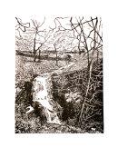 Scaleber Foss, Settle. Lino print