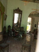Sitting Room with motorcycle