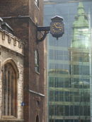All Hallows, with projecting clock