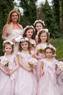 beautiful bridesmaids and flower girls