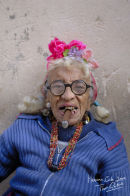 Old woman smoking Havana Cigar