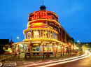 yates's wine lodge at night, Blackpool